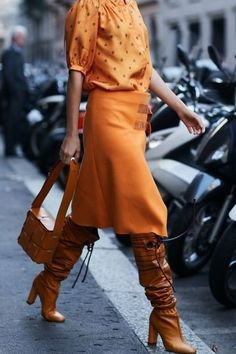 Orange from head-to-toe..