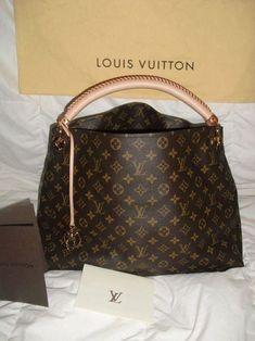 Glamorous LV Leather Satchel