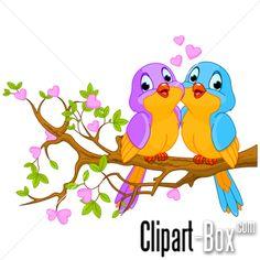 CLIPART BIRDS COUPLE