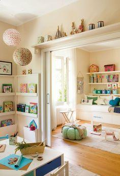 Colorful Playroom Design Idea Use to Divide areas Maryjanes and Kids Playroom Ideas Casa Kids, Colorful Playroom, Colorful Crafts, Modern Playroom, Playroom Design, Playroom Ideas, Playroom Decor, Kid Playroom, Children Playroom