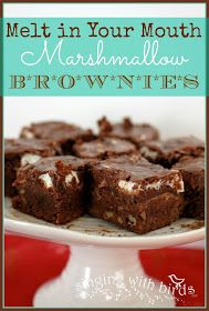 Melt in Your Mouth Marshmallow Brownies  @singingwithbirds.com
