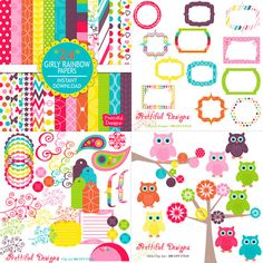 25 Off SALE Digital Scrapbook Kit with Papers by PrettifulDesigns, $6.94