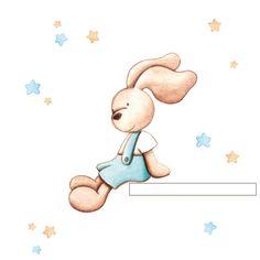 Bunny Nursery, Animal Nursery, Nursery Art, Kids Background, Baby Shower Invitation Templates, Children Images, Baby Scrapbook, Woodland Creatures, Baby Boy Shower