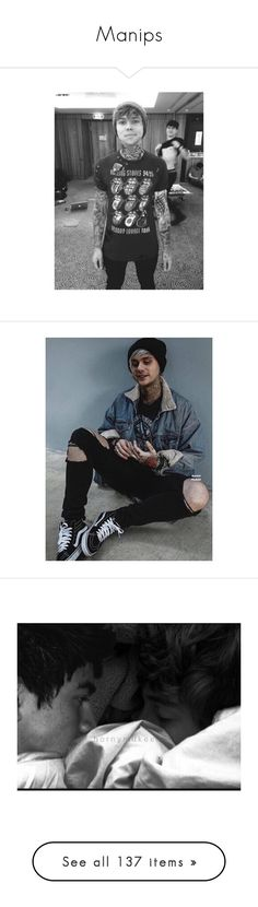 """""""Manips"""" by princess-hood ❤ liked on Polyvore featuring 5sos, michael, luke hemmings, 5 seconds of summer, calum hood, punk, punk edit, sexy, accessories and michael clifford"""