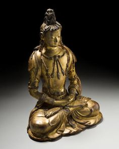 A gilt dry lacquer figure of Amitayus Kangxi period, 17th/18th century