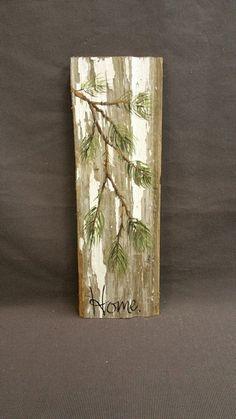 Christmas GIFTS UNDER 25 Hand painted Pine by TheWhiteBirchStudio
