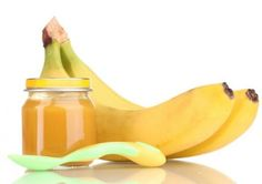Piure de banane si piersica Baby Food Recipes, Banana, Recipes For Baby Food