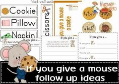 Ingles360: If you give a mouse..follow up worksheets