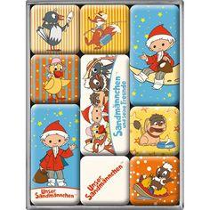 Amazon.de: Nostalgic-Art 83021 Sandmännchen, Magnet-Set, 9-teilig