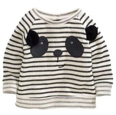 Stripey Panda Crew Sweater (3mths-6yrs) from Next