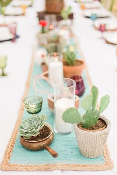 Cute Little Cactus Birthday Party - Smash Cake Dinner Party Decorations, Party Centerpieces, Quince Decorations, Dinner Parties, Cactus Centerpiece, Cactus Cake, Margarita Party, Anniversary Decorations, Graduation Party Decor