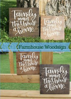 Family Sign, Family Makes This House A Home Sign, Love Makes This Home Sign, Family Wall Decor, Wood Sign, Rustic Sign, Family Decor #rustic #farmhouse #afflink