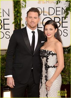 channing tatum jenna dewan golden globes 2014 red carpet 03 Channing Tatum and Jenna Dewan-Tatum hit the red carpet together at the 2014 Golden Globe Awards held at the Beverly Hilton Hotel on Sunday (January 12) in Beverly…