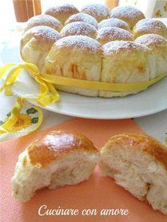 Il danubio dolce, un dolce sofficissimo che si può farcire con marmellata, nutella o crema ottimo per la colazione