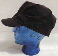 Vintage Barbour Unisex Waxed Cotton Baker Boy Hat, Slate Coloured size M