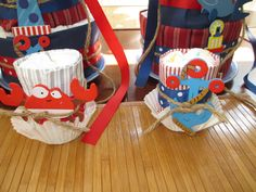 part 2 of the twin boy diaper cakes!