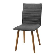 Polsterstuhl Kean (2er-Set) - Webstoff/Eiche massiv Outdoor Chairs, Dining Chairs, Outdoor Furniture, Outdoor Decor, Green Colors, Modern, Accent Chairs, Sweet Home, Design