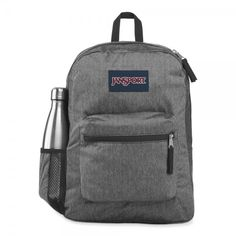 Cross Town Remix is a perfect bag for primary school, but it is also used by many secondary and 3rd level students. It is also used as a day pack and for travelling. The side bottle holder will make all the difference. Handbags For School, Jansport Backpack, School Backpacks, Primary School, Black Backpack, Herringbone, Pouch, Vogue, Black And White