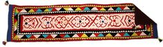 Design No. Ralli quilt table runner size Hand sewn and hand stitched. Table Runner Size, Quilted Table Runners, Table Covers, Applique Designs, Home Decor Items, Cushion Covers, Hand Sewn, Hand Stitching, Size 16