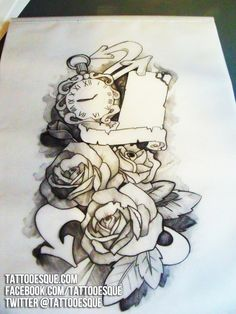 Google Image Result for http://www.tattooesque.com/wp-content/uploads/2012/08/roses-and-pocket-watch-tattoo-sleeve-design.jpg