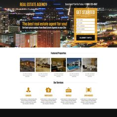 real estate agent mini responsive landing page design at a very reasonable and affordable price from buy landing page design Real Estate Agency, Real Estate Investor, Real Estate Landing Pages, Real Estate Website Design, Webdesign Inspiration, Landing Page Design, Web Design, Design Ideas, Mini