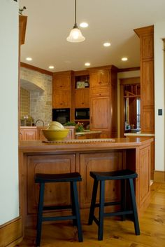 Kitchen by Wisconsin Log Homes - National Design & Build - Log, Timber Frame & Hybrid Style Homes - www.wisconsinloghomes.com