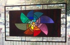 A Spin in The Wind Stained Glass Window Panel Signed and Dated | eBay