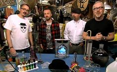 """""""Breaking Bad"""" creator Vince Gilligan and star Aaron Paul join the """"Mythbusters"""" team to test some of the science of """"Breaking Bad."""" At least one experiment looks promising, as you can see in these clips."""