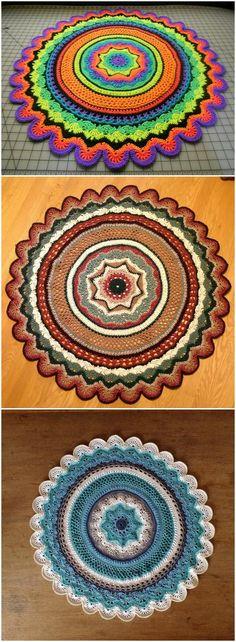 Brilliant Photo of Crochet Mandala Pattern Crochet Mandala Pattern 60 Free Crochet Mandala Patterns Diy Crafts Crochet Mandala Pattern, Crochet Quilt, Crochet Squares, Crochet Home, Crochet Doilies, Crochet Yarn, Crochet Stitches, Free Crochet, Crochet Patterns