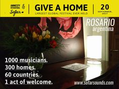 Banner Sofar Sounds Rosario & Amnistia Internacional 2017
