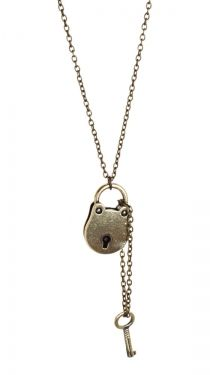 Lock and Key Necklace :}