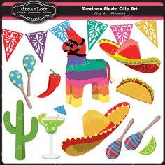 Mexican Fiesta Clip Art #party #clipart #printable