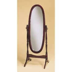 Cherry Finish Cheval Mirror