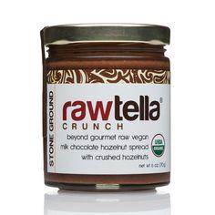 Rawtella Vegan Chocolate Hazelnut Spread, Crunch, 6 oz/170g: Rawtella… #Live_Superfoods #cacao #cacaohazelnutspread #chocolate #crunch