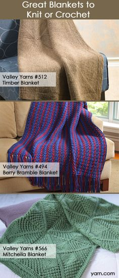 Gift Ideas: Blankets to knit and crochet