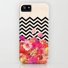 Chevron Flora II iPhone Case by Bianca Green | Society6