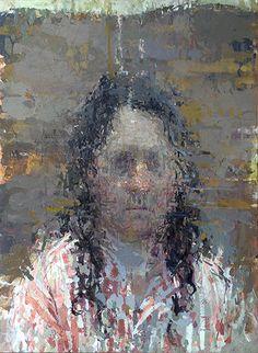 """Self Portrait,"" Ann Gale, oil on copper, 12 x Dolby Chadwick Gallery © Ann Gale. Abstract Portrait, Portrait Art, Self Portraits, Artist Painting, Figure Painting, Encaustic Painting, Expressionist Portraits, 21st Century Artists, Selfies"