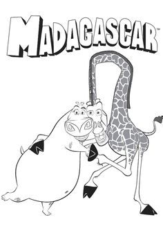 JumpStarts free and printable Madagascar Coloring Pages with King