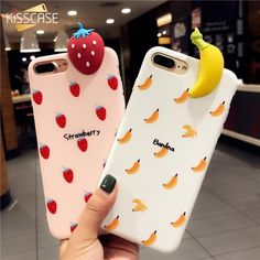 3D Cartoon Fruit Patterned Phone Case For iPhone 6 6s Cases For iPhone 7 6 6s Plus Girly Cute Soft Mobile Phone Cover