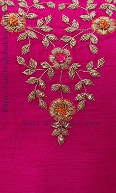 Best 12 Delicate bead hand embroidery on dusty rose georgette fabric. Minimalist floral embroidery perfect for any occasion – SkillOfKing. Zardosi Embroidery, Embroidery On Kurtis, Hand Embroidery Dress, Kurti Embroidery Design, Embroidery Neck Designs, Bead Embroidery Patterns, Indian Embroidery, Embroidery Fashion, Beaded Embroidery