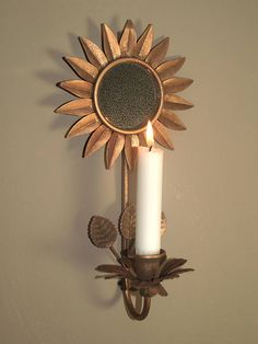 Candle Sconce Candle Sconces, Wall Lights, Glow, Candles, Mirror, Flowers, Dining Room, Home Decor, Appliques