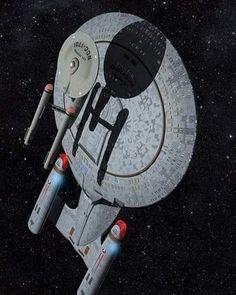 Nave Enterprise, Star Trek Enterprise, Star Trek Voyager, Star Trek Cast, Starfleet Ships, Space Artwork, Star Trek Characters, Star Trek Starships, Spaceship Concept
