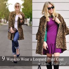 9 Ways to Wear a Leopard Print Coat & Look Fabulous!