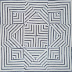 = free pattern = Portsmouth Star quilt block, made with striped ticking by Dustin Cecil. Pattern by Barbara Brackman.  Civil War Quilts 2014 BOM - block 1.