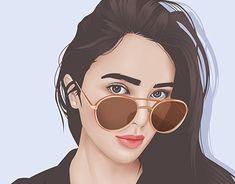 Vector Portrait, Digital Portrait, Portrait Art, Portraits, Portrait Illustration, Illustration Girl, Neon Jungle, Art Drawings Sketches Simple, Bubble