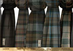 Craig na Dun, Fraser, Outlander, Mackenzie, and Cocknammon Rock tartans from The Celtic Croft.