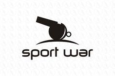 SPORT WAR - $400 (negotiable) http://www.stronglogos.com/product/sport-war #logo #design #sale #sports #retailer #media #equipment #blog