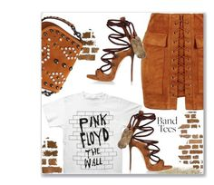 """Pink Floyd The Wall"" by interesting-times ❤ liked on Polyvore featuring Floyd, Dsquared2, Coach 1941 and bandtees"