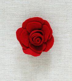 Artesanato e Cia: Rosinhas de feltro-tutorial