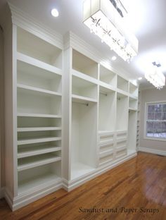 Smart Luxury Walk In Closet Design That Will Change Your Wardrobe tuch Master Closet Built-Ins Diy Master Closet, Closet Bedroom, Closet Space, Basement Closet, Girl Closet, Closet Built Ins, Closet Shelves, Open Shelves, Closet Storage